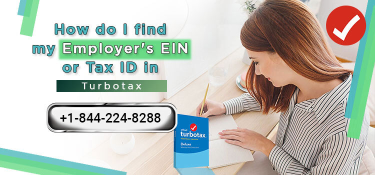 How do I find my employer's EIN or Tax ID in TurboTax?