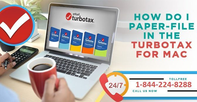 How do I paper-file in the TurboTax for Mac CD/Download Software?