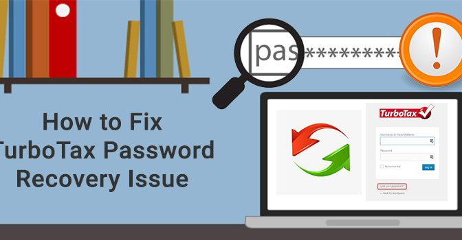 TurboTax password recovery issue